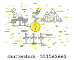 alternative energy sources... | Shutterstock .eps vector #551563663