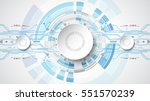 abstract technological... | Shutterstock .eps vector #551570239