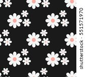 cute seamless floral pattern.... | Shutterstock .eps vector #551571970