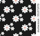 cute seamless floral pattern.... | Shutterstock .eps vector #551571970