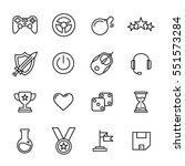 set of game icons in modern... | Shutterstock .eps vector #551573284