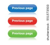 previous page buttons | Shutterstock .eps vector #551573503