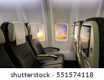 Interior Of An Airplane With...