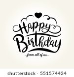 happy birthday greeting card... | Shutterstock .eps vector #551574424