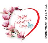 valentines day card. beautiful... | Shutterstock .eps vector #551575666
