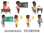 african american student... | Shutterstock .eps vector #551582968