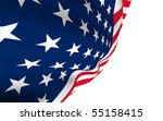 usa flag wave close | Shutterstock . vector #55158415