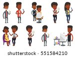 african barber cutting hair of... | Shutterstock .eps vector #551584210