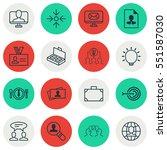 set of 16 business management... | Shutterstock .eps vector #551587030