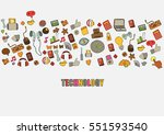 technology background with... | Shutterstock .eps vector #551593540