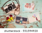 photo album in remembrance and... | Shutterstock . vector #551594920