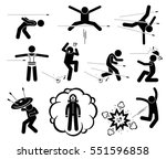 people jumping and evading gun... | Shutterstock .eps vector #551596858