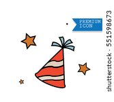 party hat icons vector | Shutterstock .eps vector #551598673