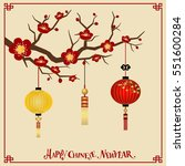 chinese new year background... | Shutterstock .eps vector #551600284