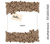 coffee beans frame on white... | Shutterstock .eps vector #551601460