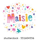 maisie girls name decorative...   Shutterstock .eps vector #551604556