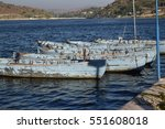 boat tied at the lake | Shutterstock . vector #551608018