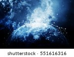 global network internet concept.... | Shutterstock . vector #551616316
