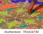 close up of rangoli  a hindu... | Shutterstock . vector #551616730