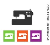 sewing machine vector icon. | Shutterstock .eps vector #551617630