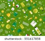 vector flat seamless texture... | Shutterstock .eps vector #551617858