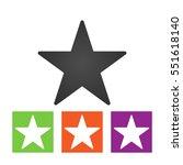 clasic star icon vector.
