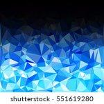 blue polygonal mosaic... | Shutterstock .eps vector #551619280