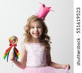beautiful little candy princess ...   Shutterstock . vector #551619523