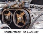 dirty car engine before repair  ... | Shutterstock . vector #551621389