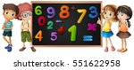 children with numbers on... | Shutterstock .eps vector #551622958