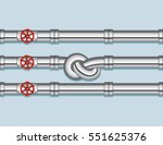 pipeline with three pipe and... | Shutterstock .eps vector #551625376