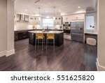 luxury modern kitchen and... | Shutterstock . vector #551625820