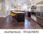 luxury modern kitchen and... | Shutterstock . vector #551625850