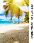 tropical island. the seychelles.... | Shutterstock . vector #551628130