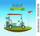 golf sport concept represented... | Shutterstock .eps vector #551628748