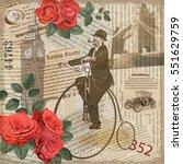 vintage poster london torn...   Shutterstock .eps vector #551629759