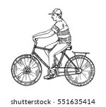 man rides a bicycle ride ...   Shutterstock .eps vector #551635414