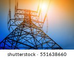 high voltage post or high... | Shutterstock . vector #551638660