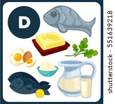 set with illustrations of food... | Shutterstock .eps vector #551639218