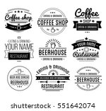 vintage logo. coffee shop... | Shutterstock .eps vector #551642074