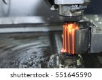 close up of the wire   edm cnc... | Shutterstock . vector #551645590
