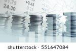 double exposure of graph  stock ... | Shutterstock . vector #551647084