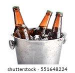 beer bottles in ice bucket ... | Shutterstock . vector #551648224