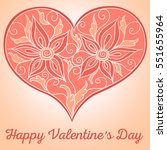 valentine's day greeting card... | Shutterstock .eps vector #551655964