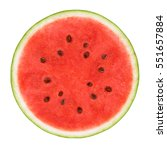 Slice Of Watermelon Isolated O...
