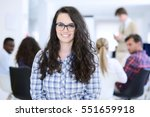 group of young business people... | Shutterstock . vector #551659918