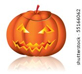 jack o lantern halloween vector ... | Shutterstock .eps vector #55166062