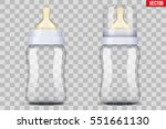 set eith baby bottles with... | Shutterstock .eps vector #551661130
