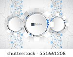 abstract technological... | Shutterstock .eps vector #551661208