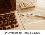 saving account book and... | Shutterstock . vector #551663308